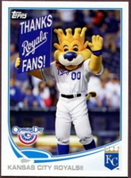 2013 Topps Opening Day Mascots Kansas City Royals Baseball Card