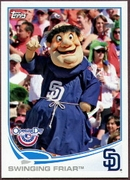 2013 Topps Opening Day Mascots Swinging Friar Baseball Card