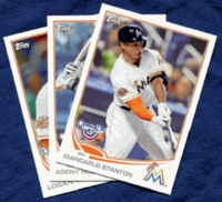 2013 Topps Opening Day Miami Marlins Baseball Cards Team Set
