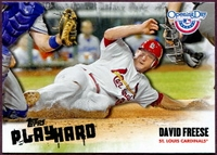 2013 Topps Opening Day Play Hard David Freese Baseball Card