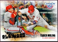 2013 Topps Opening Day Play Hard Yadier Molina Baseball Card