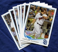2013 Topps Opening Day San Diego Padres Baseball Cards Team Set