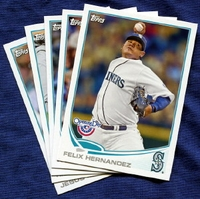 2013 Topps Opening Day Seattle Mariners Baseball Cards Team Set