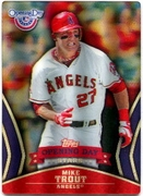 2013 Topps Opening Day Stars 3D Mike Trout Baseball Card