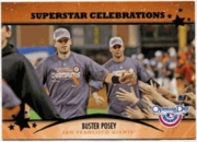2013 Topps Opening Day Superstar Celebrations Buster Posey Baseball Card
