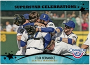 2013 Topps Opening Day Superstar Celebrations Felix Hernandez Baseball Card