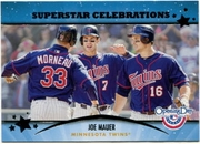 2013 Topps Opening Day Superstar Celebrations Joe Mauer Baseball Card