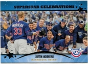 2013 Topps Opening Day Superstar Celebrations Justin Morneau Baseball Card