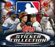 2013 Topps Sticker Collection Baseball Stickers Box