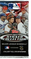 2013 Topps Sticker Collection Stickers Pack