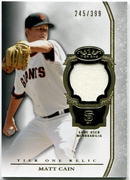 2013 Topps Tier One Relics Matt Cain Baseball Card 245/399
