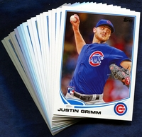 2013 Topps Update Chicago Cubs Baseball Cards Team Set