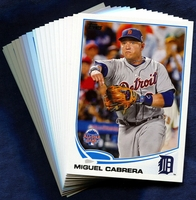 2013 Topps Update Detroit Tigers Baseball Cards Team Set