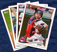 2014 Topps Opening Day Cleveland Indians Baseball Cards Team Set