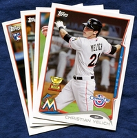 2014 Topps Opening Day Miami Marlins Baseball Cards Team Set