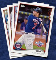 2014 Topps Opening Day Minnesota Twins Baseball Cards Team Set