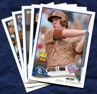 2014 Topps Opening Day San Diego Padres Baseball Cards Team Set
