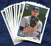 2014 Topps Opening Day Seattle Mariners Baseball Cards Team Set