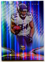 2014 Topps Platinum Blue Wave Refractors Cordarrelle Patterson Football Card
