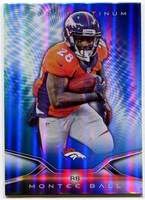 2014 Topps Platinum Blue Wave Refractors Montee Ball Football Card