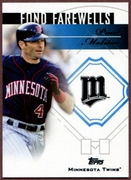 2014 Topps Update Fond Farewells #FFPM Paul Molitor Baseball Card