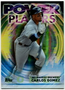 2014 Topps Update Power Players #PPACGM Carlos Gomez Baseball Card