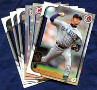 2015 Bowman & Prospects Seattle Mariners Baseball Card Team Set