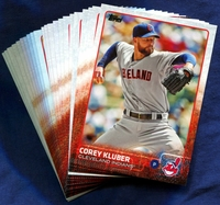 2015 Topps Cleveland Indians Baseball Cards Team Set