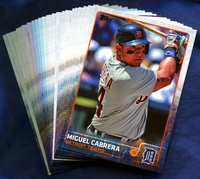 2015 Topps Detroit Tigers Baseball Cards Team Set
