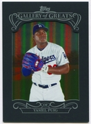 2015 Topps Gallery of Greats #GG11 Yasiel Puig Baseball Card