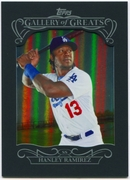 2015 Topps Gallery of Greats #GG13 Hanley Ramirez Baseball Card