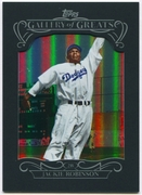 2015 Topps Gallery of Greats #GG20 Jackie Robinson Baseball Card