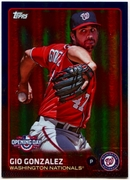 2015 Topps Opening Day Blue Foil #102 Gio Gonzalez Baseball Card