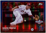 2015 Topps Opening Day Blue Foil #116 David Freese Baseball Card