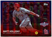 2015 Topps Opening Day Blue Foil #130 Matt Holliday Baseball Card