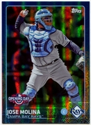 2015 Topps Opening Day Blue Foil #133 Jose Molina Baseball Card