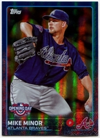 2015 Topps Opening Day Blue Foil #167 Mike Minor Baseball Card