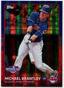 2015 Topps Opening Day Blue Foil #174 Michael Brantley Baseball Card