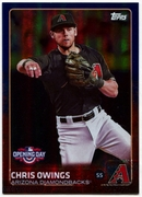 2015 Topps Opening Day Blue Foil #46 Chris Owings Baseball Card