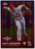 2015 Topps Opening Day Blue Foil #6 Matt Carpenter Baseball Card