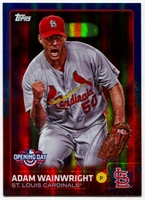2015 Topps Opening Day Blue Foil #98 Adam Wainwright Baseball Card