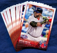 2015 Topps Opening Day Boston Red Sox Baseball Cards Team Set