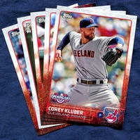 2015 Topps Opening Day Cleveland Indians Baseball Cards Team Set