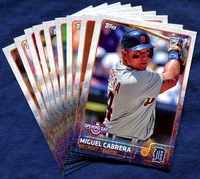 2015 Topps Opening Day Detroit Tigers Baseball Cards Team Set