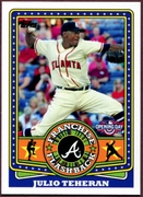 2015 Topps Opening Day Franchise Flashbacks #FF08 Julio Teheran Baseball Card
