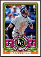 2015 Topps Opening Day Franchise Flashbacks #FF09 Alex Gordon Baseball Card