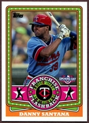 2015 Topps Opening Day Franchise Flashbacks #FF15 Danny Santana Baseball Card
