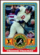2015 Topps Opening Day Franchise Flashbacks #FF19 Freddie Freeman Baseball Card