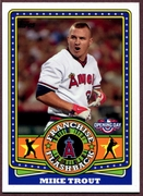 2015 Topps Opening Day Franchise Flashbacks #FF20 Mike Trout Baseball Card