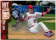 2015 Topps Opening Day Hit the Dirt #HTD04 Mike Trout Baseball Card